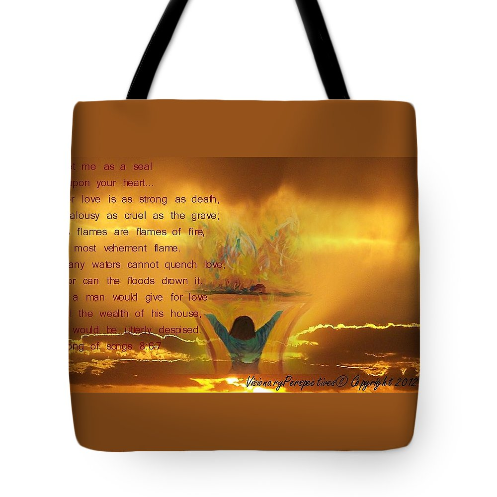 Sacrifice Of Praise Tote Bag featuring the digital art The Sacrifice Of Praise by Jewell McChesney