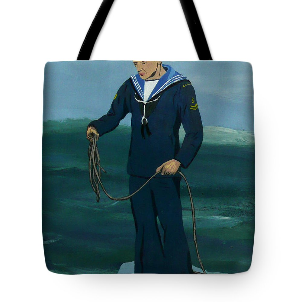 Sailor Tote Bag featuring the painting The Sailor by Anthony Dunphy