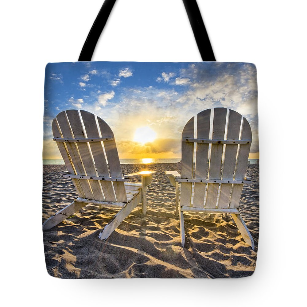 Clouds Tote Bag featuring the photograph The Salt Life by Debra and Dave Vanderlaan
