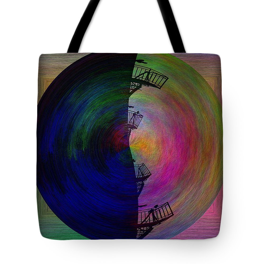 Fire Escape Tote Bag featuring the digital art The Scape by Tim Allen