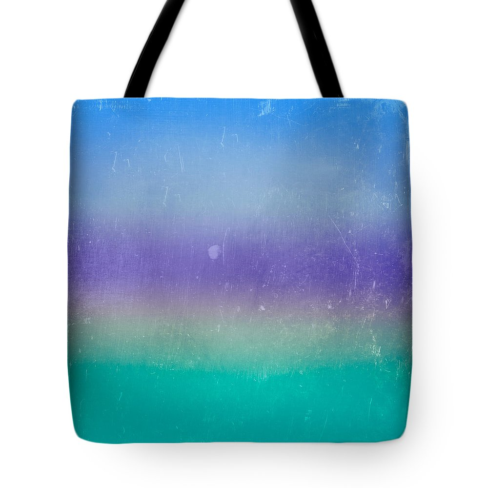 Abstract Tote Bag featuring the digital art The Sea by Peter Tellone