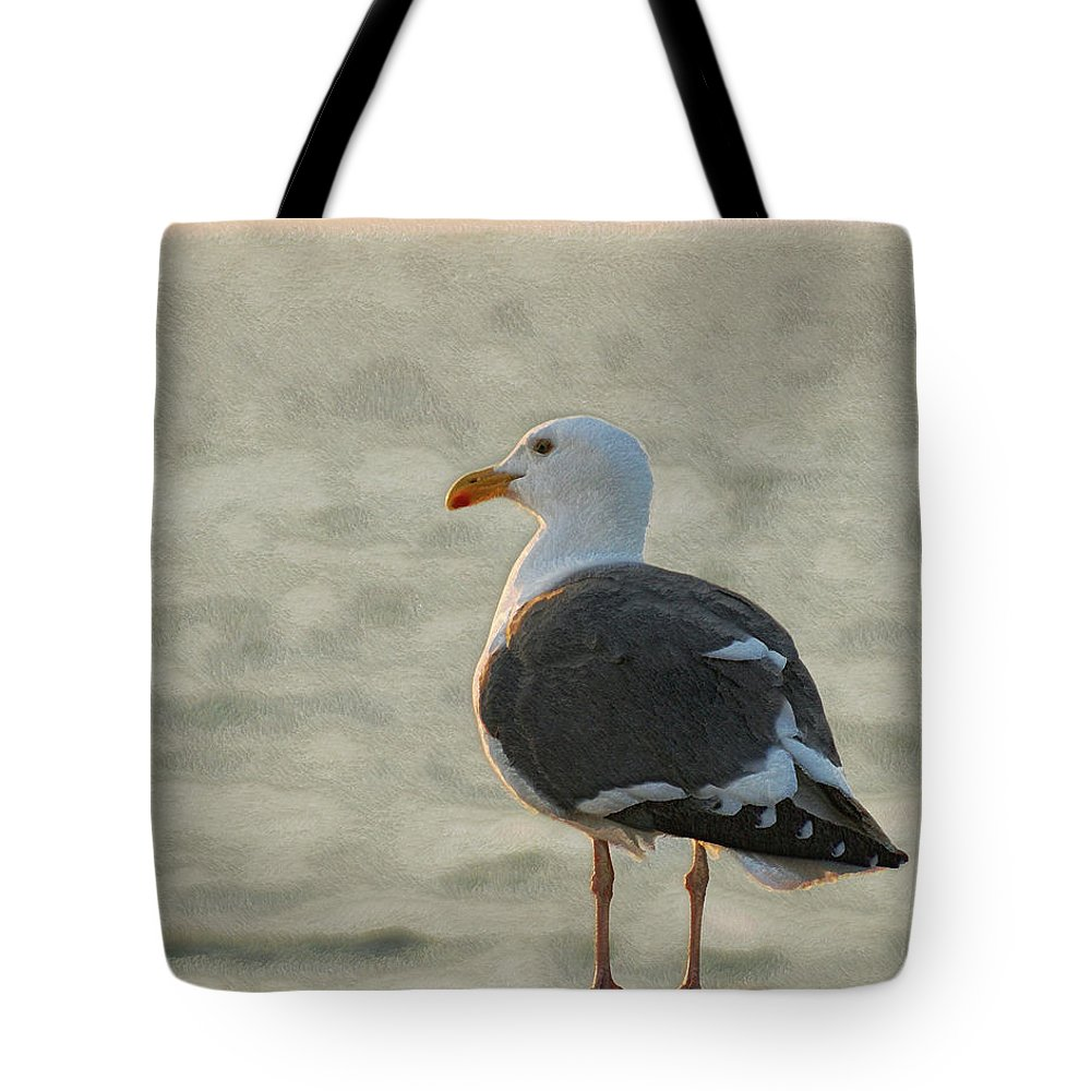 Seagull Tote Bag featuring the photograph The Seagull by Ernie Echols