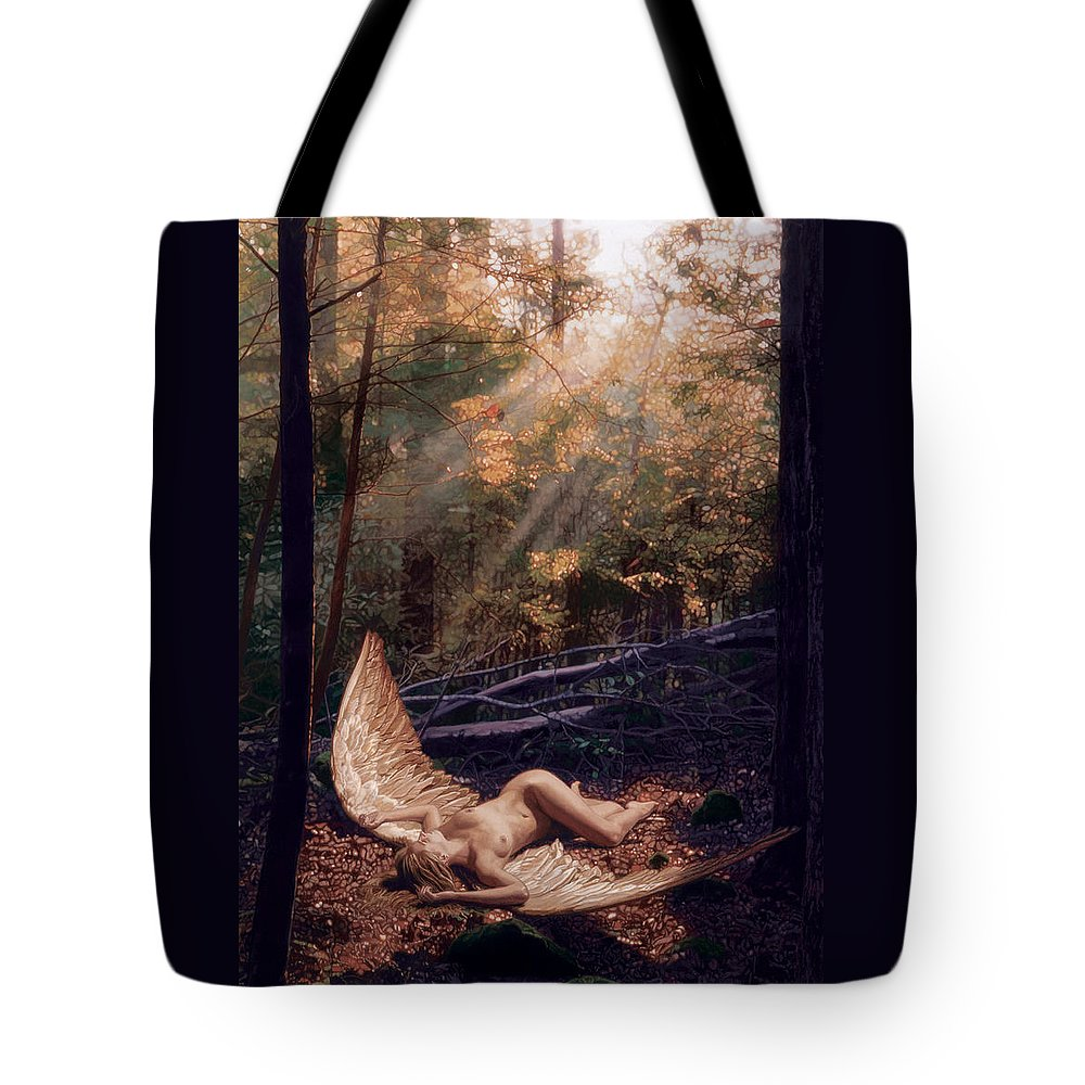 Romance Tote Bag featuring the painting The Secret Forest by Patrick Whelan