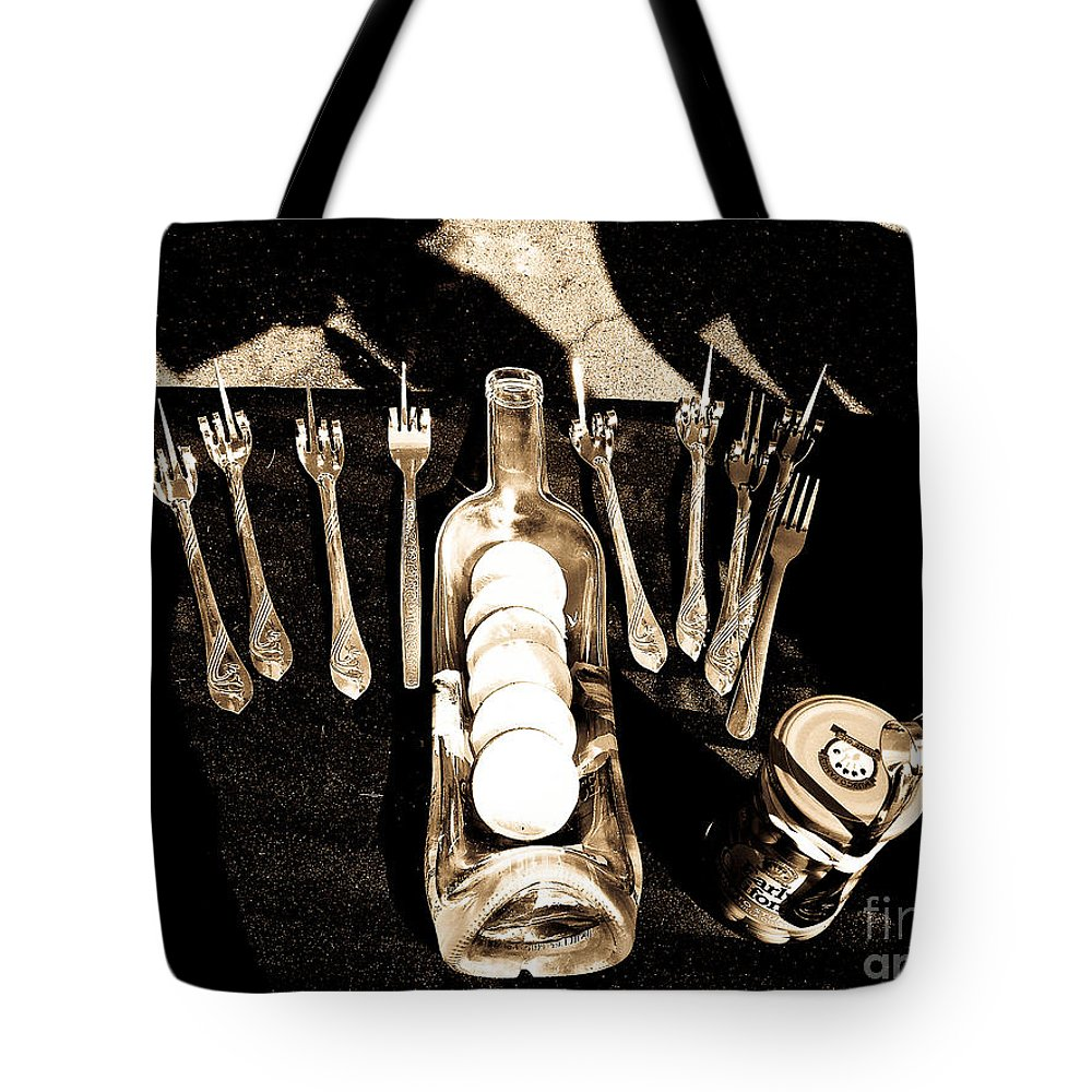 Glassware Tote Bag featuring the photograph The Set by Fei A