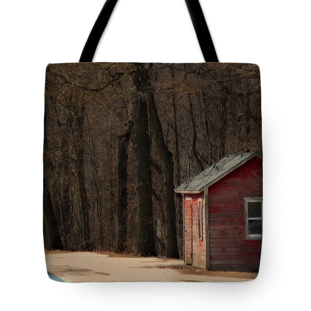 Melinda Martin Tote Bag featuring the photograph The Shack by Melinda Martin