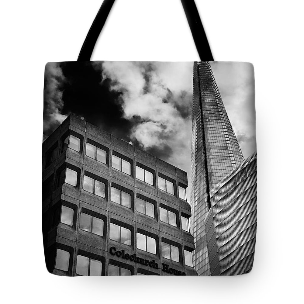 Shard Tote Bag featuring the photograph The Shard From Tooley Street by Ian Good
