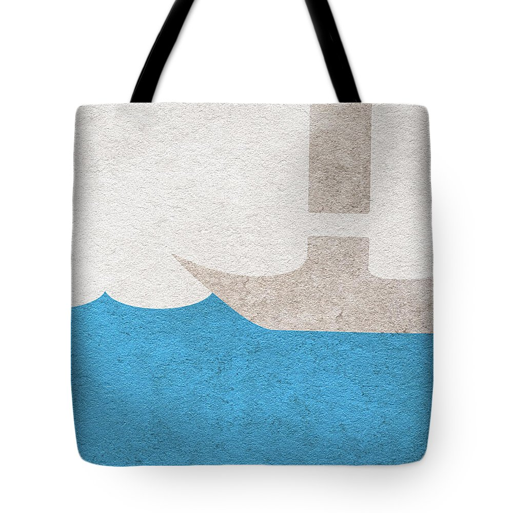 The Shawshank Redemption Tote Bag featuring the digital art The Shawshank Redemption by Inspirowl Design