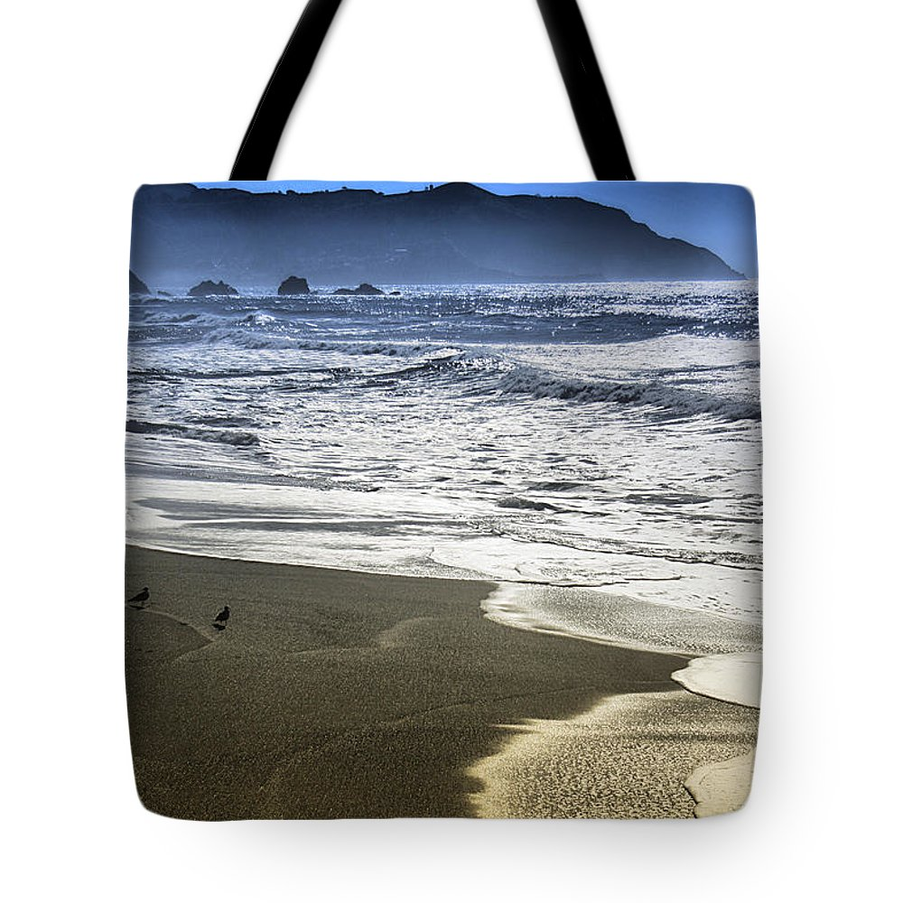Ocean Tote Bag featuring the photograph The Shore by Spencer Hughes