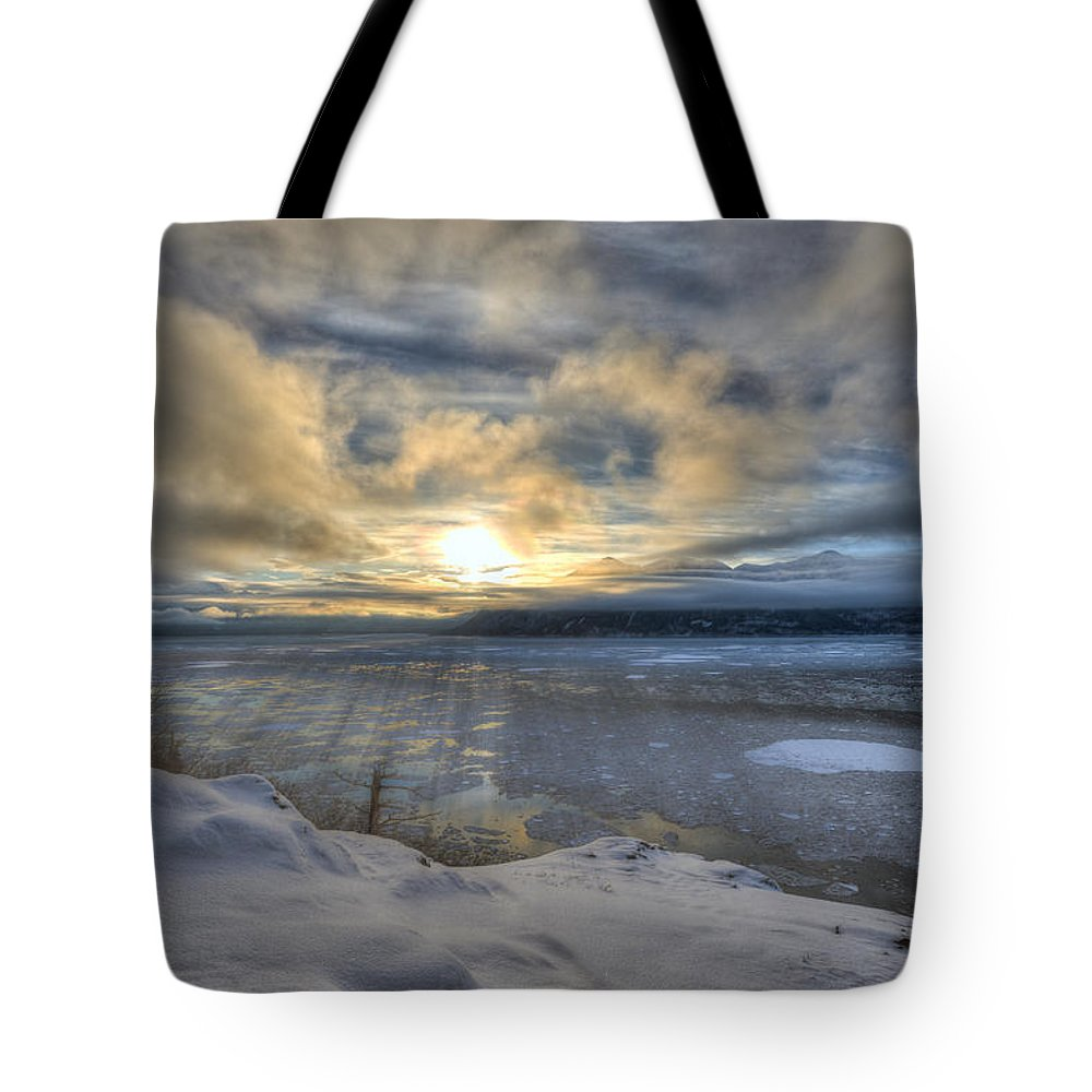 Solstice Tote Bag featuring the photograph The Shortest Day by Ted Raynor