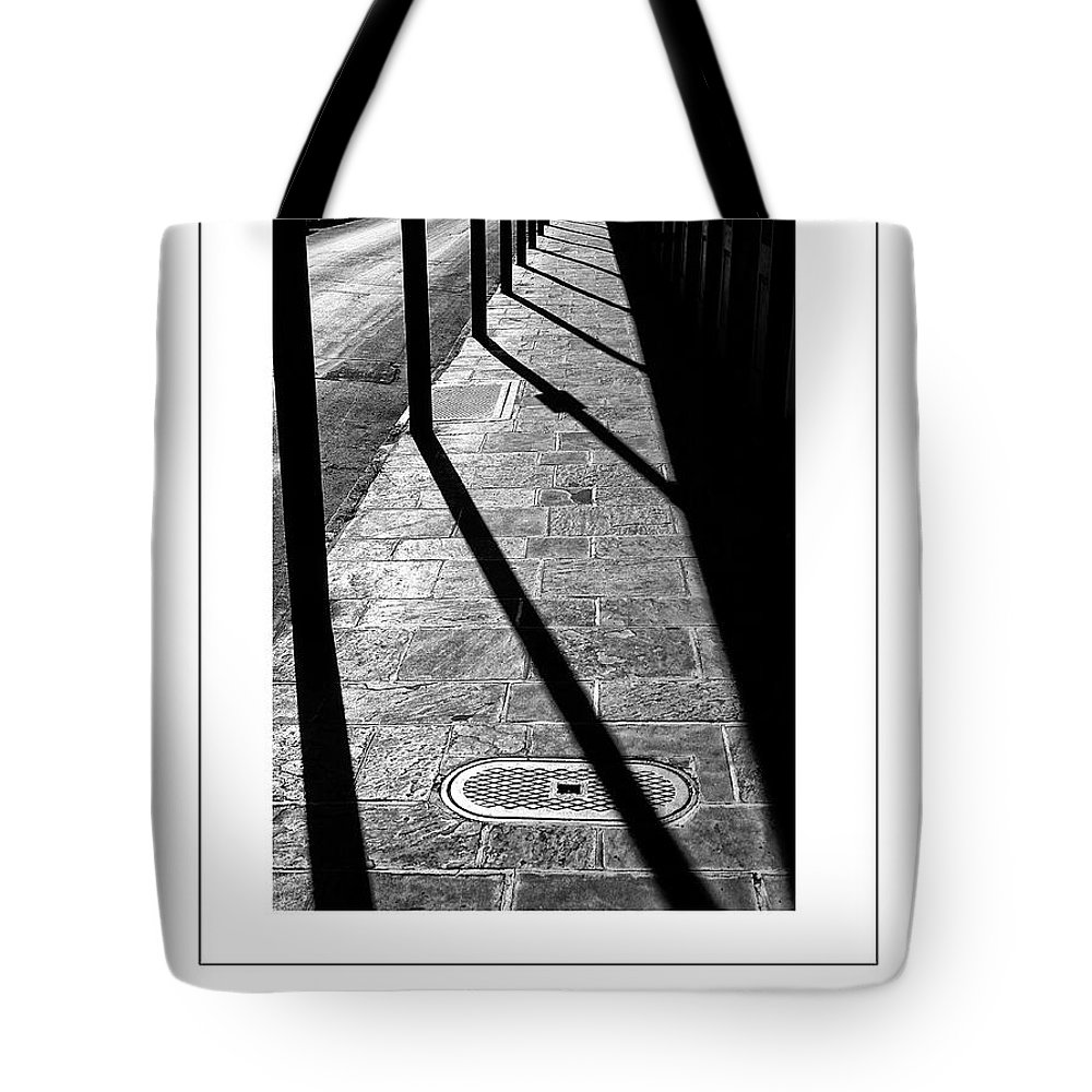Sidewalk Tote Bag featuring the photograph The Sidewalk Poster by Mike Nellums