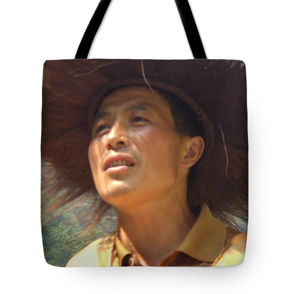 Portrait Tote Bag featuring the photograph The Singing Boatman by Barbie Corbett-Newmin