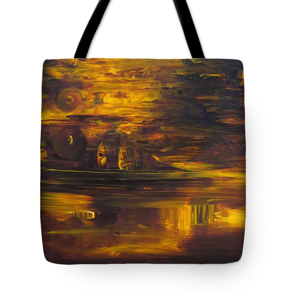 Abstract Tote Bag featuring the painting The Smile by Soraya Silvestri