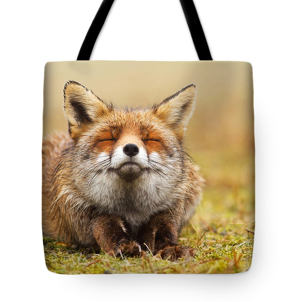 Fox Tote Bag featuring the photograph The Smiling Fox by Roeselien Raimond