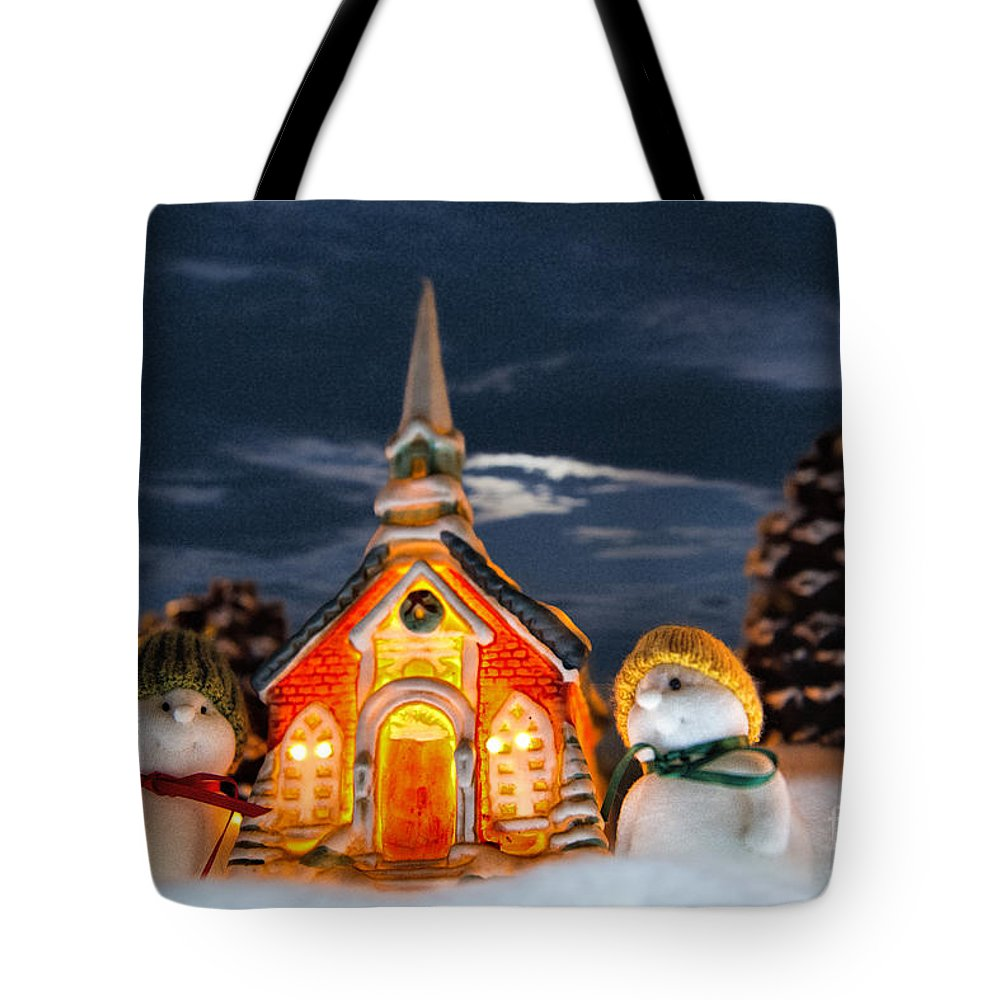 The Snowdens Tote Bag featuring the photograph The Snowdens At Church by David Arment