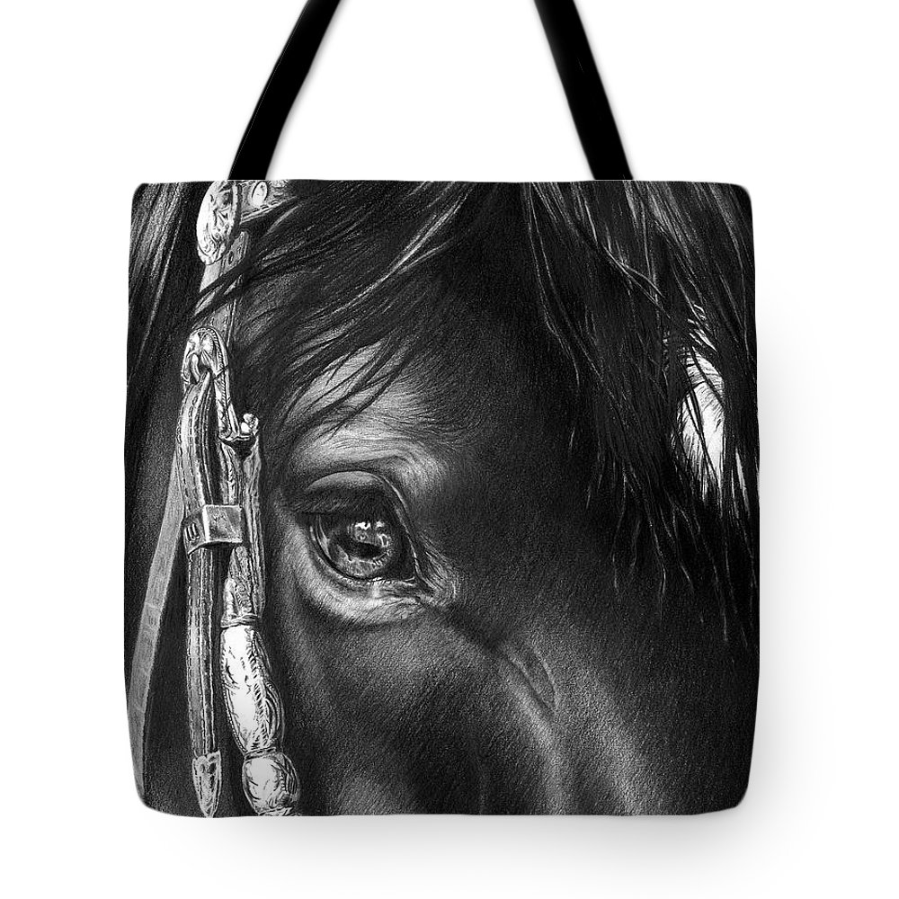 Art Print Tote Bag featuring the painting the Soul of a Horse by Jill Westbrook