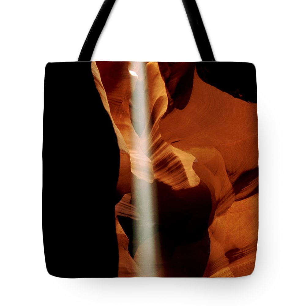 Antelope Canyon Tote Bag featuring the photograph The Source by Kathy McClure