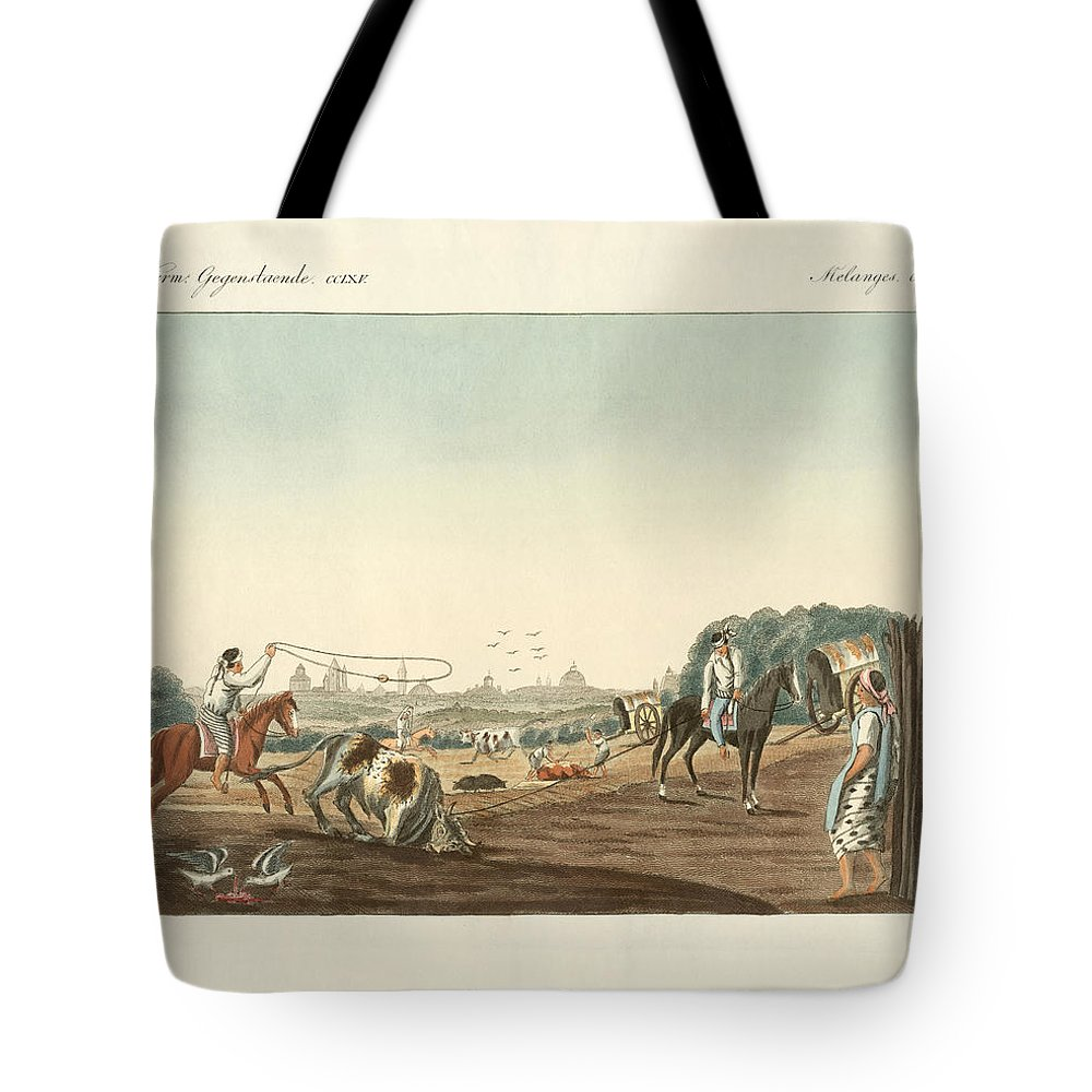 Bertuch Tote Bag featuring the drawing The South Of Matadero One Of The Public Slaughterhouses Of Buen by Splendid Art Prints