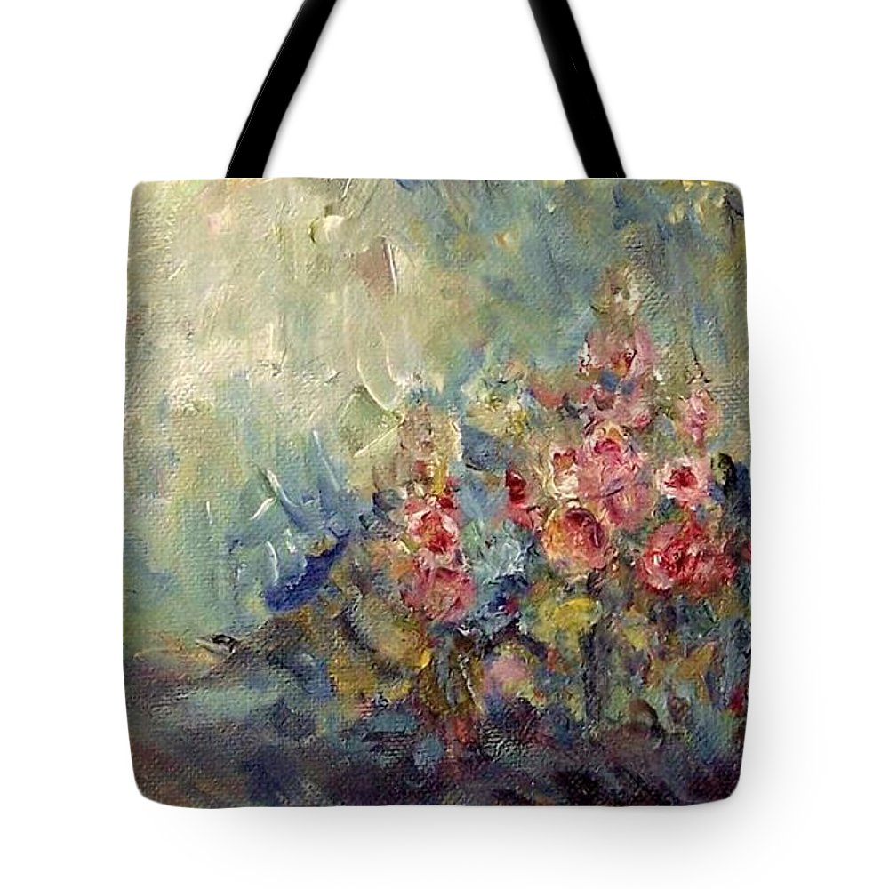 Impressionism Tote Bag featuring the painting The Sparkle Of Light by Mary Wolf