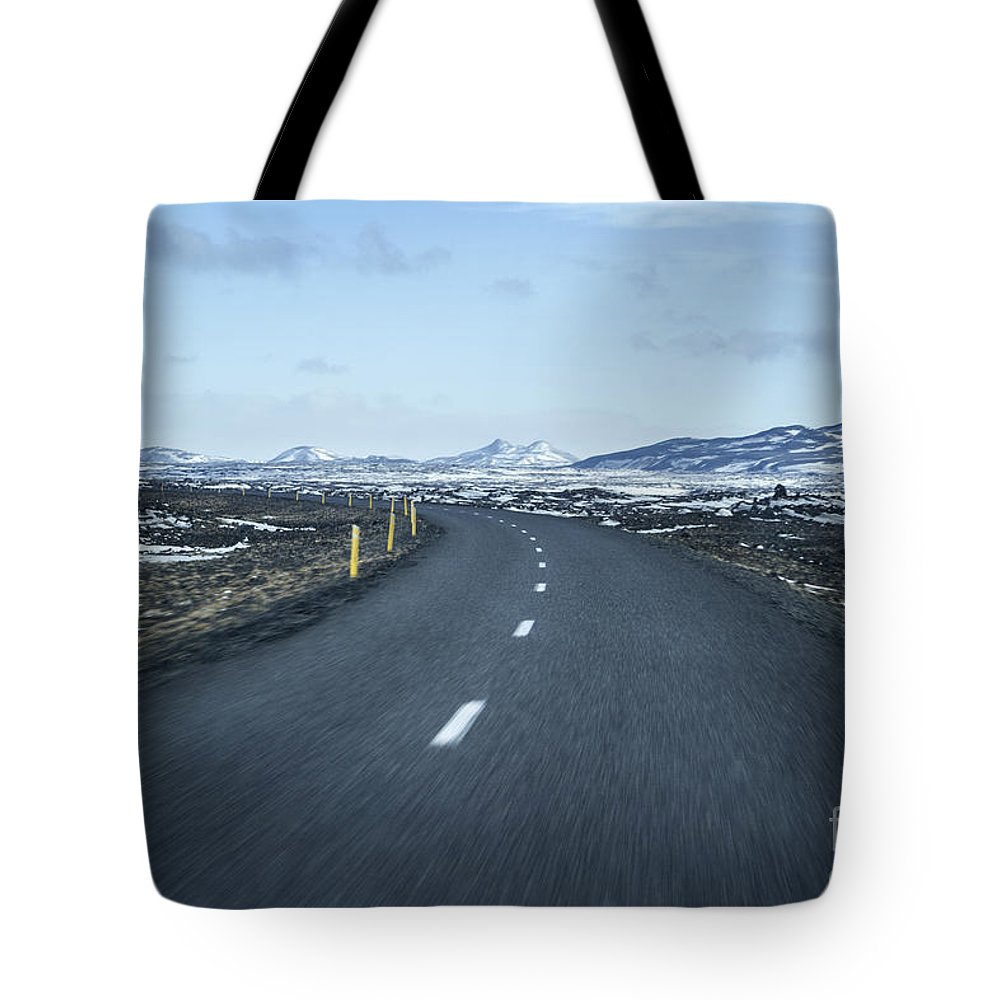 Iceland Tote Bag featuring the photograph The Speed I Need by Evelina Kremsdorf