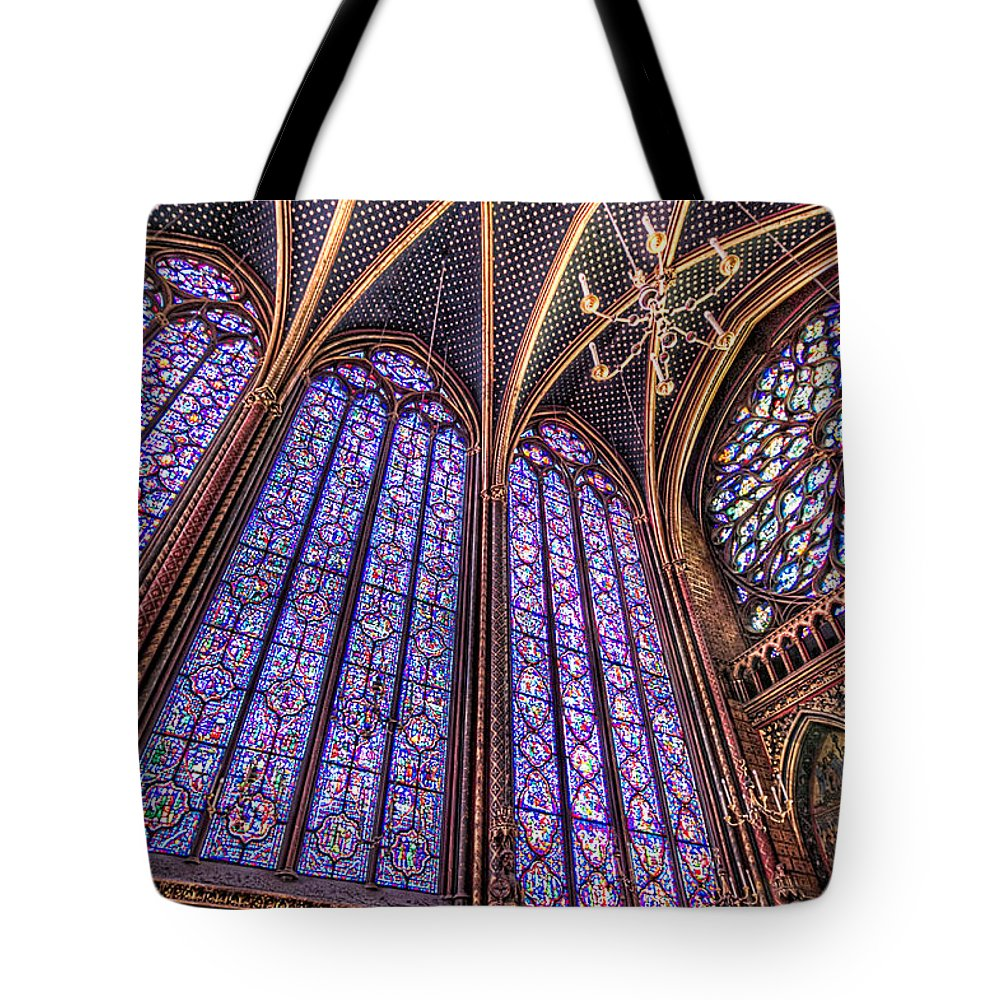 Paris Tote Bag featuring the photograph The Stained Glass Of La Sainte-chapelle by Tim Stanley