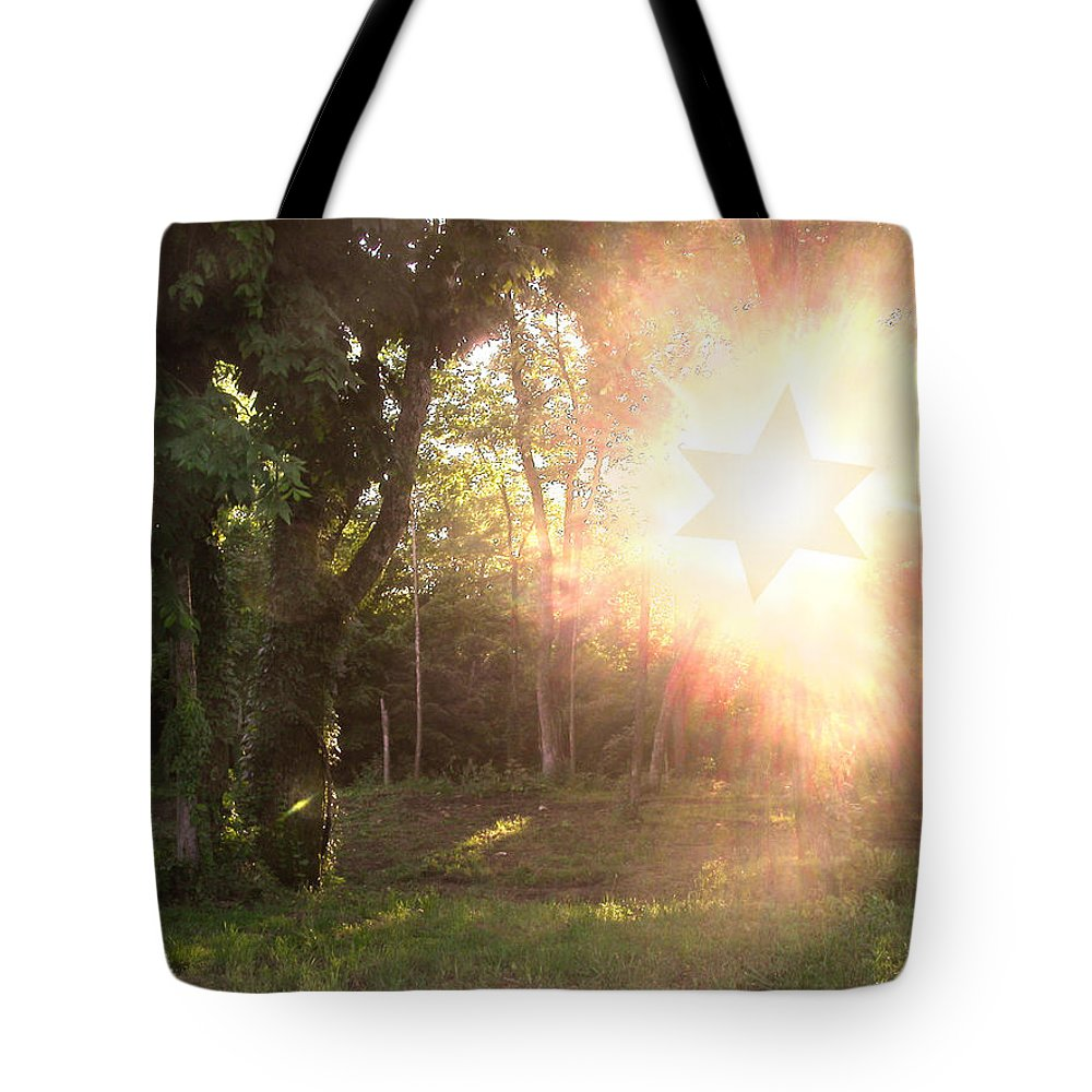 Star Of David Tote Bag featuring the photograph The Star Of David Appeared by Anne Cameron Cutri