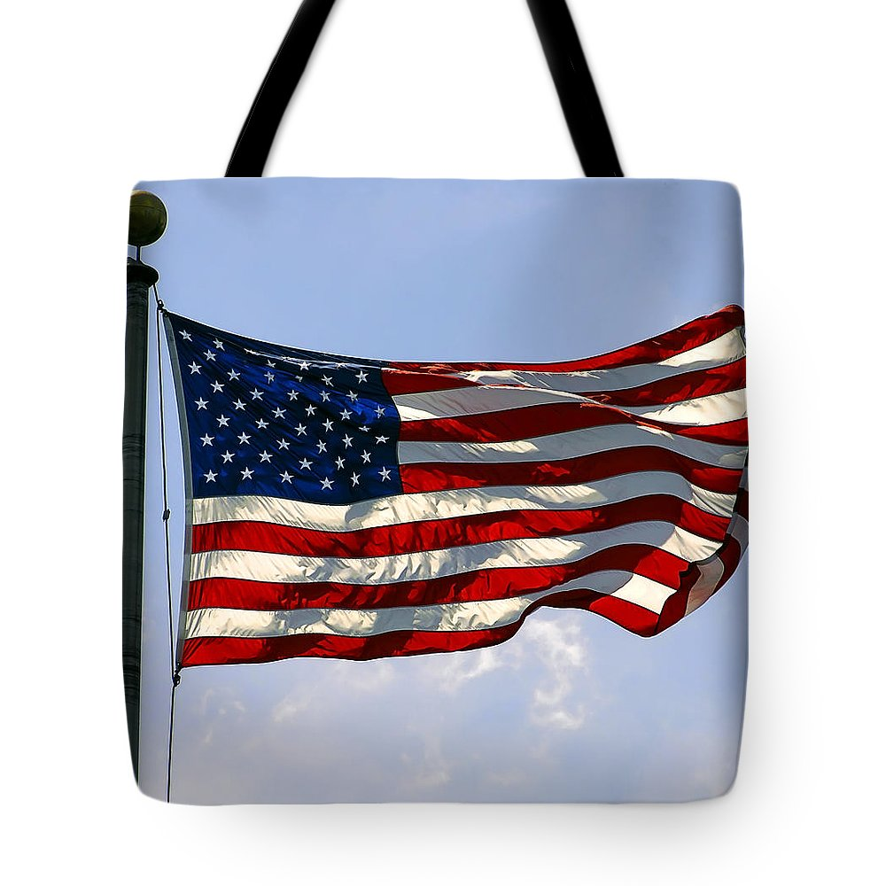 old Glory Tote Bag featuring the photograph The Star Spangled Banner by Daniel Hagerman