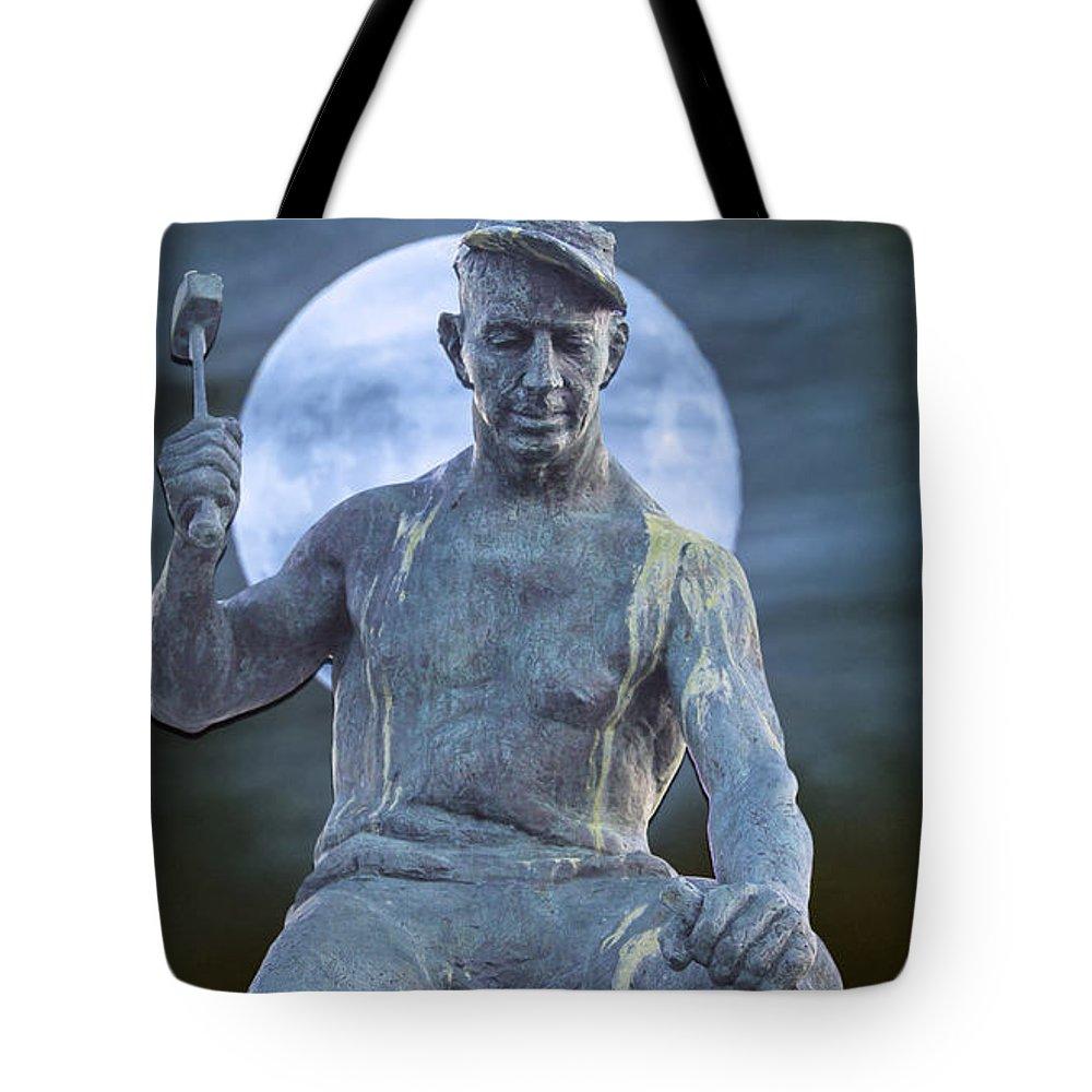 Quarry Tote Bag featuring the photograph The Stone Mason by John Haldane