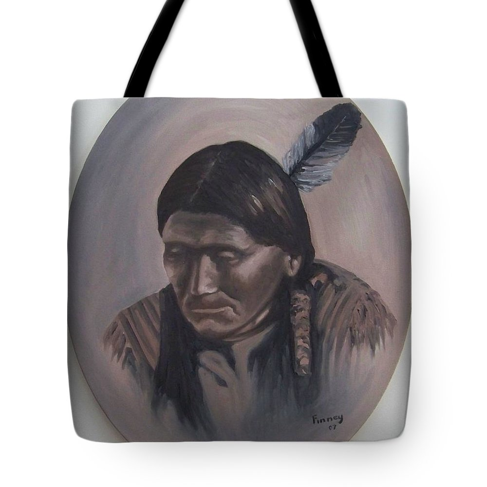 Michael Tote Bag featuring the painting The Story Teller by Michael TMAD Finney