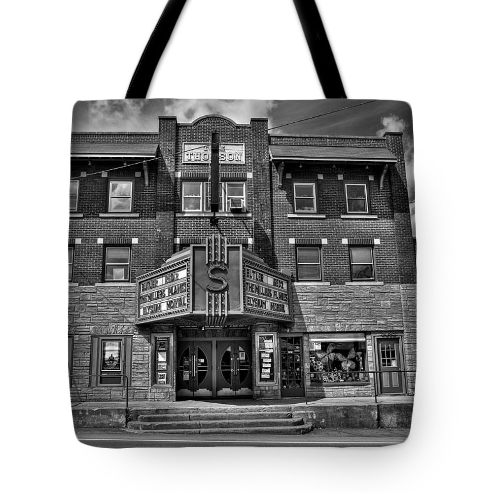 The Strand Theatre Tote Bag featuring the photograph The Strand Theatre by David Patterson