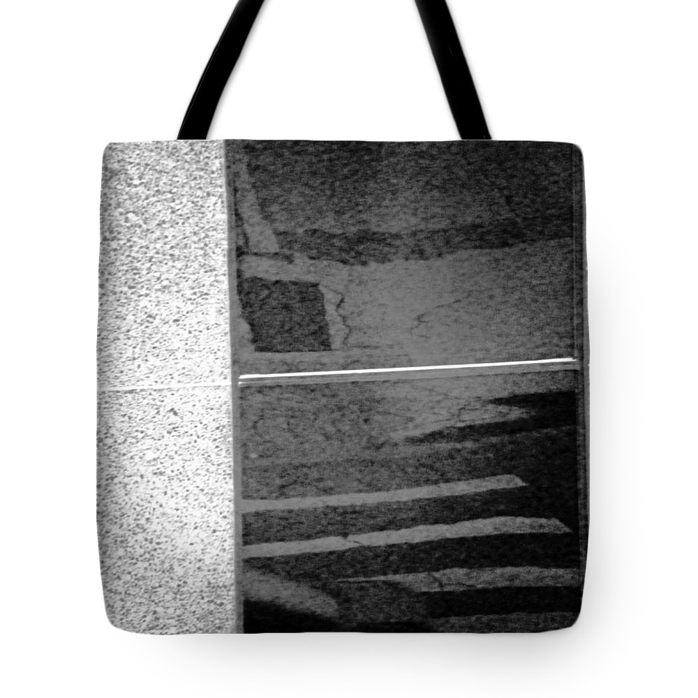 Abstract Tote Bag featuring the photograph The Street by Lenore Senior