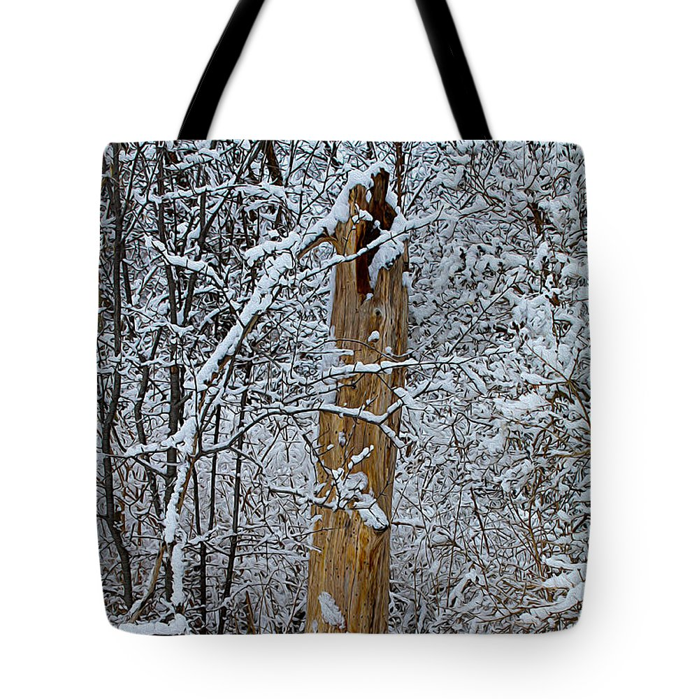 Winter Tote Bag featuring the photograph The Strength Of The Elderly by Nina Silver