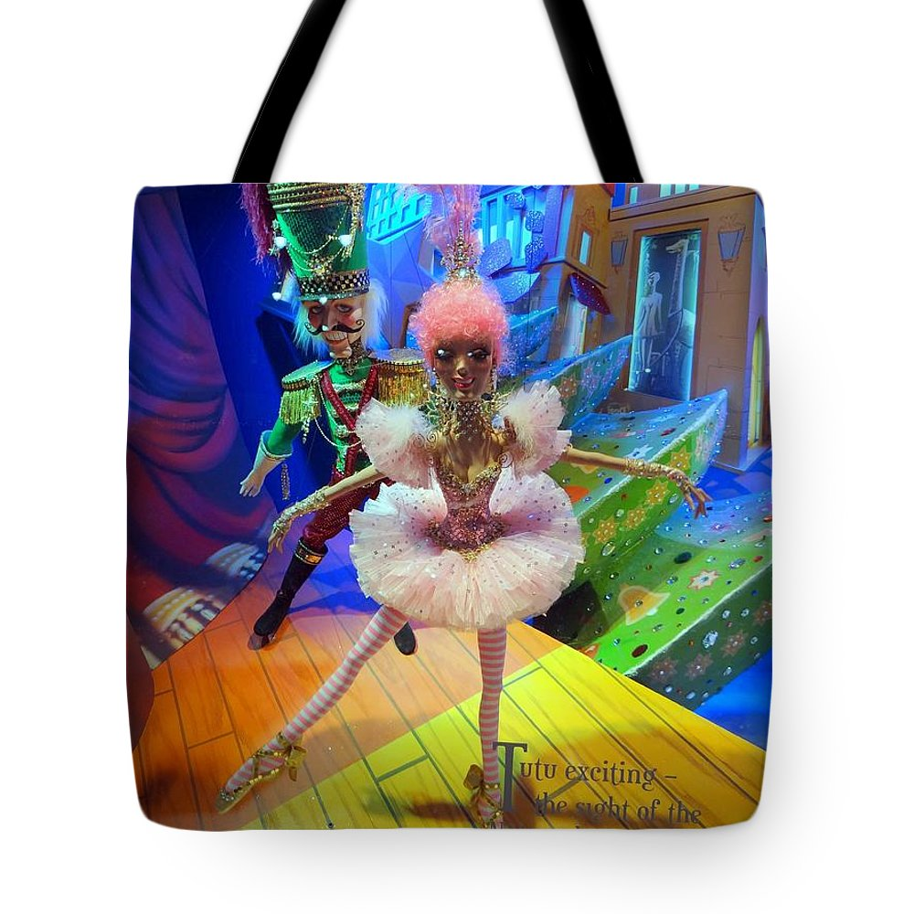 Window Display Tote Bag featuring the photograph The Sugarplum Fairy by Ed Weidman