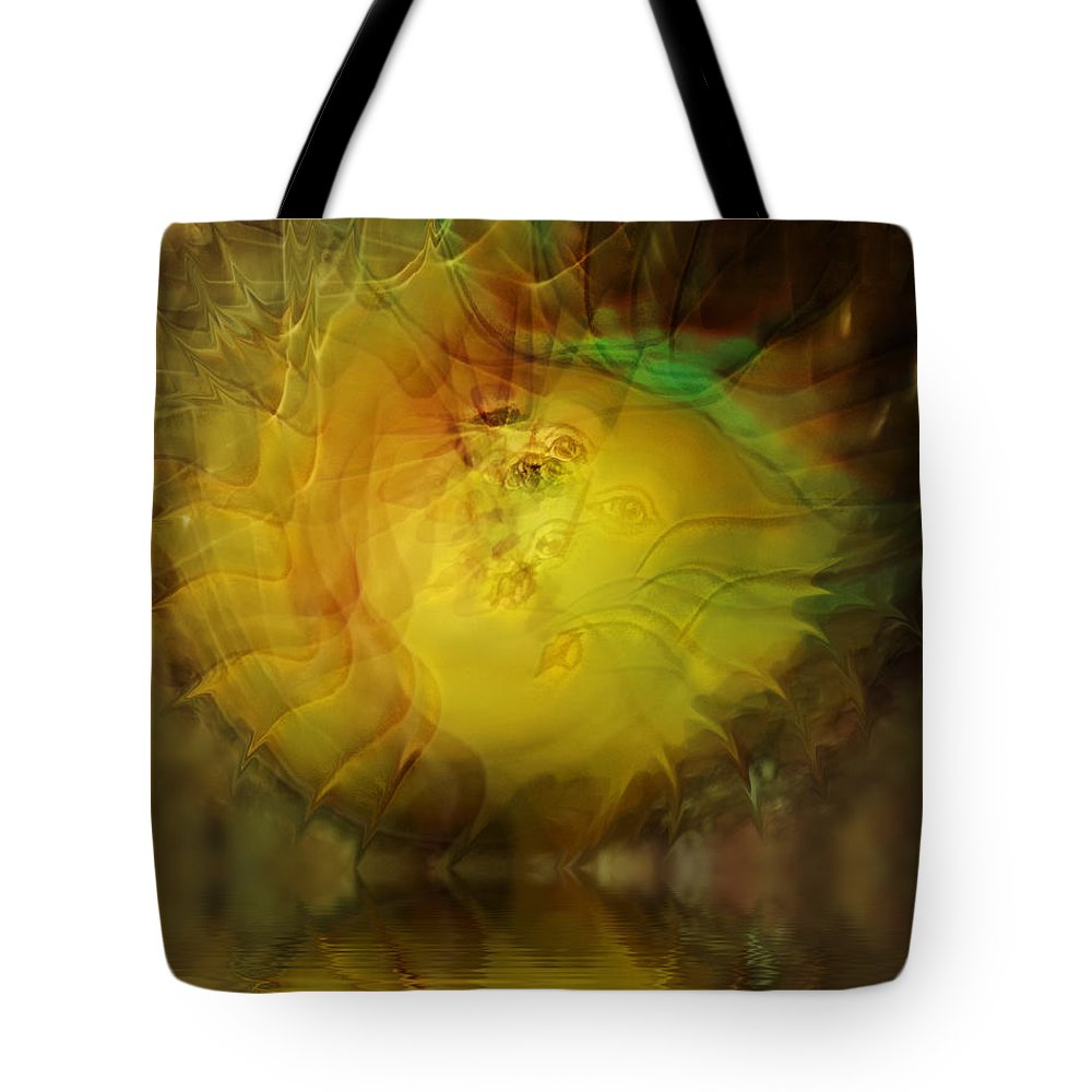 Face Tote Bag featuring the digital art The Sun Faces by Diane Dugas
