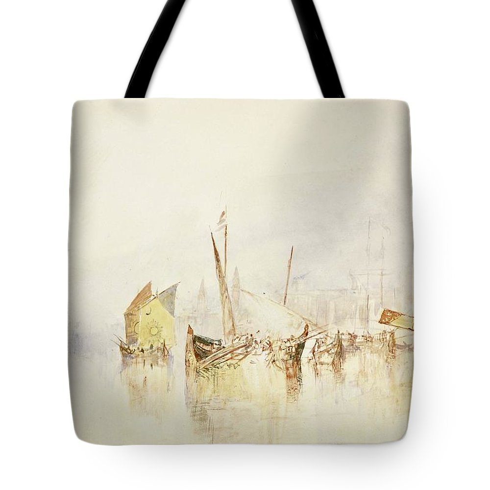 1840 Tote Bag featuring the painting The Sun Of Venice by JMW Turner