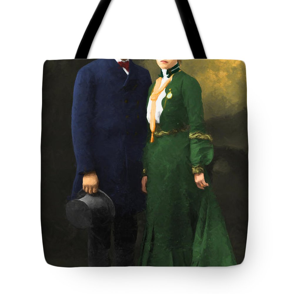 Celebrity Tote Bag featuring the photograph The Sundance Kid Harry Longabaugh And Etta Place 20130515 by Wingsdomain Art and Photography
