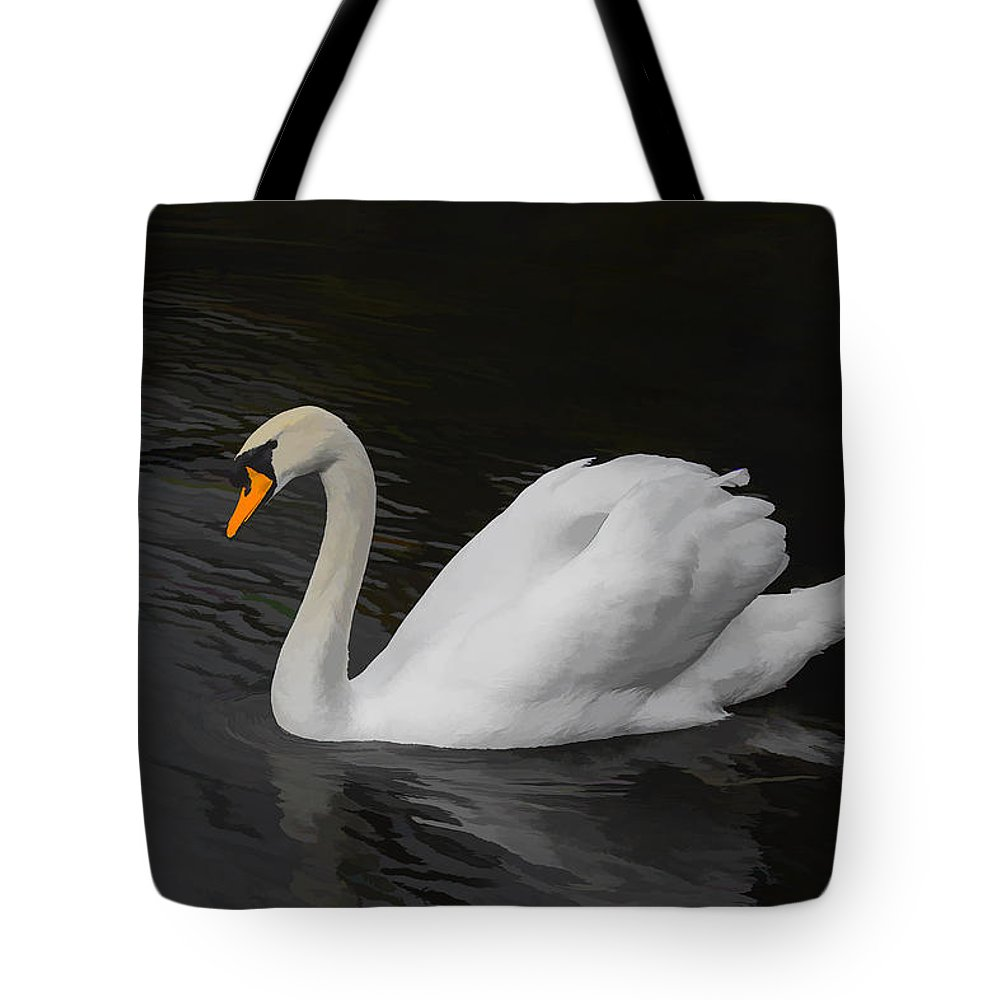 Swan Tote Bag featuring the photograph The Swan by David Gleeson