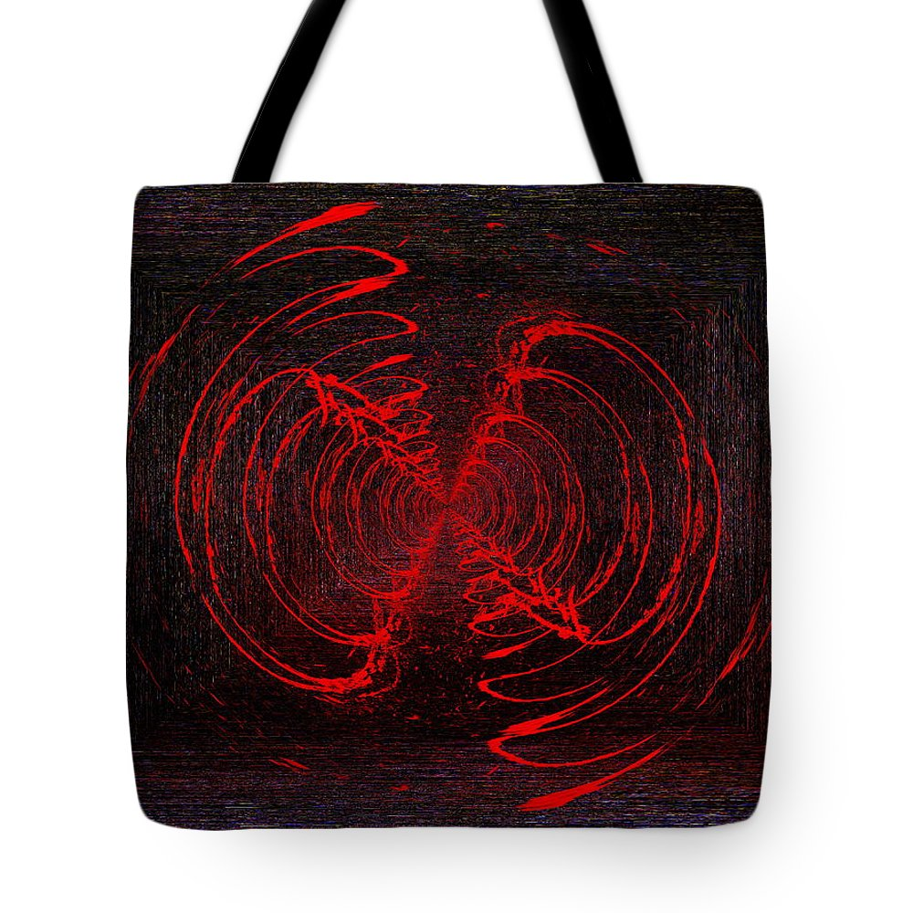 Abstract Tote Bag featuring the digital art The Swarm by Tim Allen