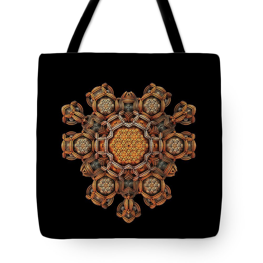 Fractal Tote Bag featuring the digital art The Talisman by Lyle Hatch