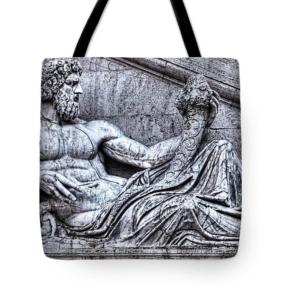 Tiber Tote Bag featuring the photograph The Tiber by Weston Westmoreland