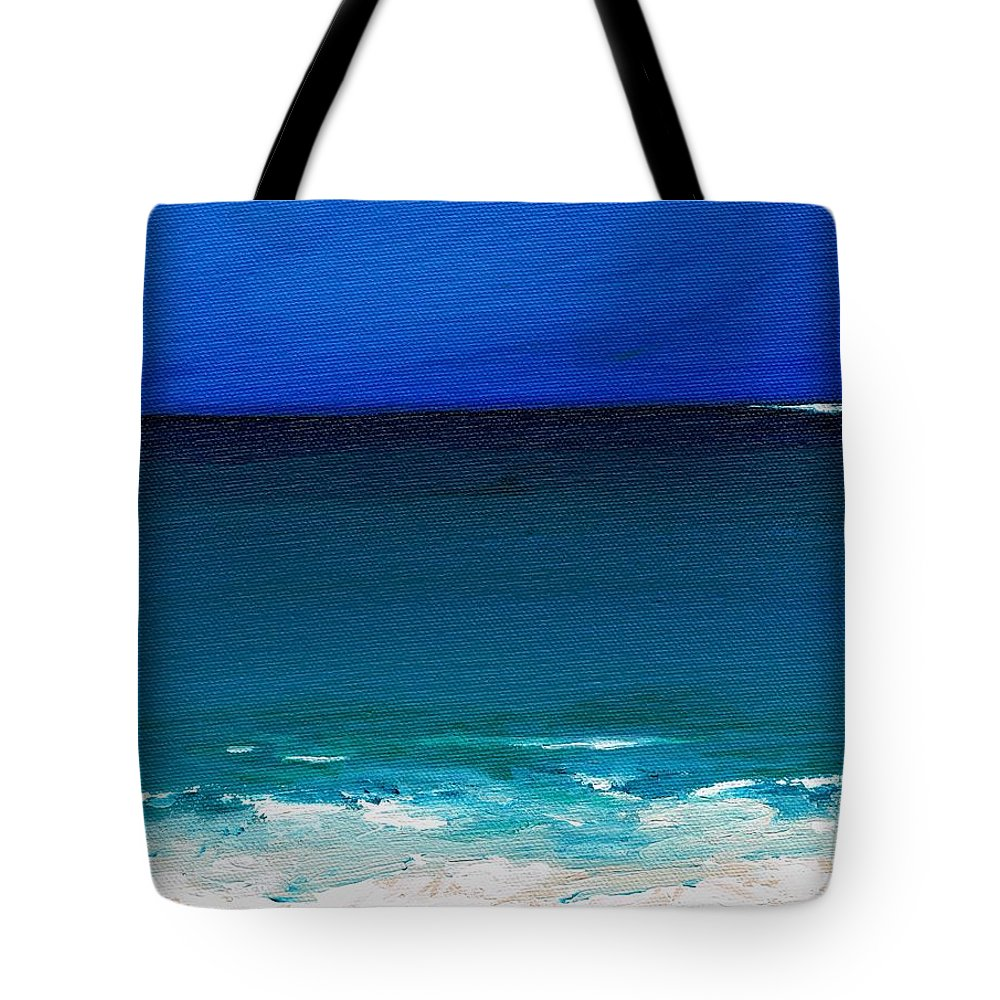 Seashore Tote Bag featuring the painting The Tide Coming In by Frances Marino