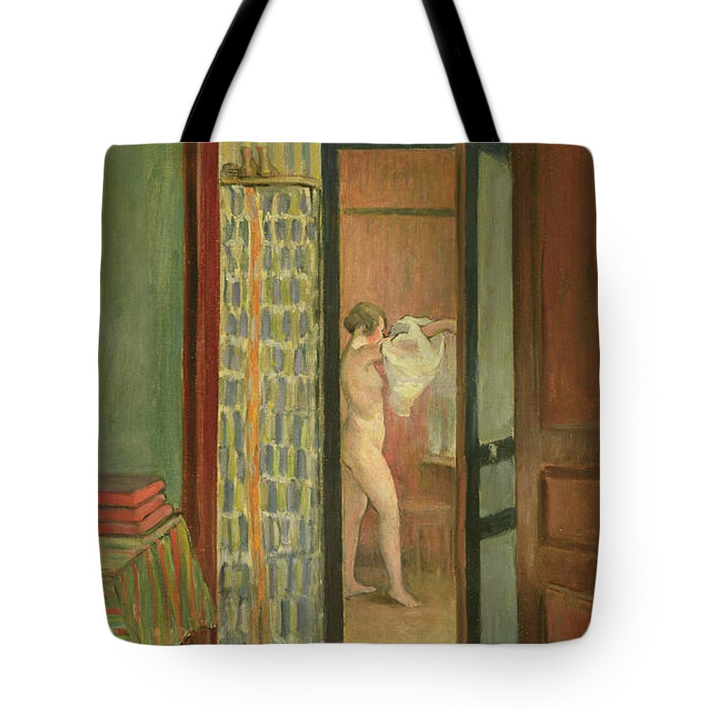 Interior Tote Bag featuring the painting The Toilet by Henri Lebasque