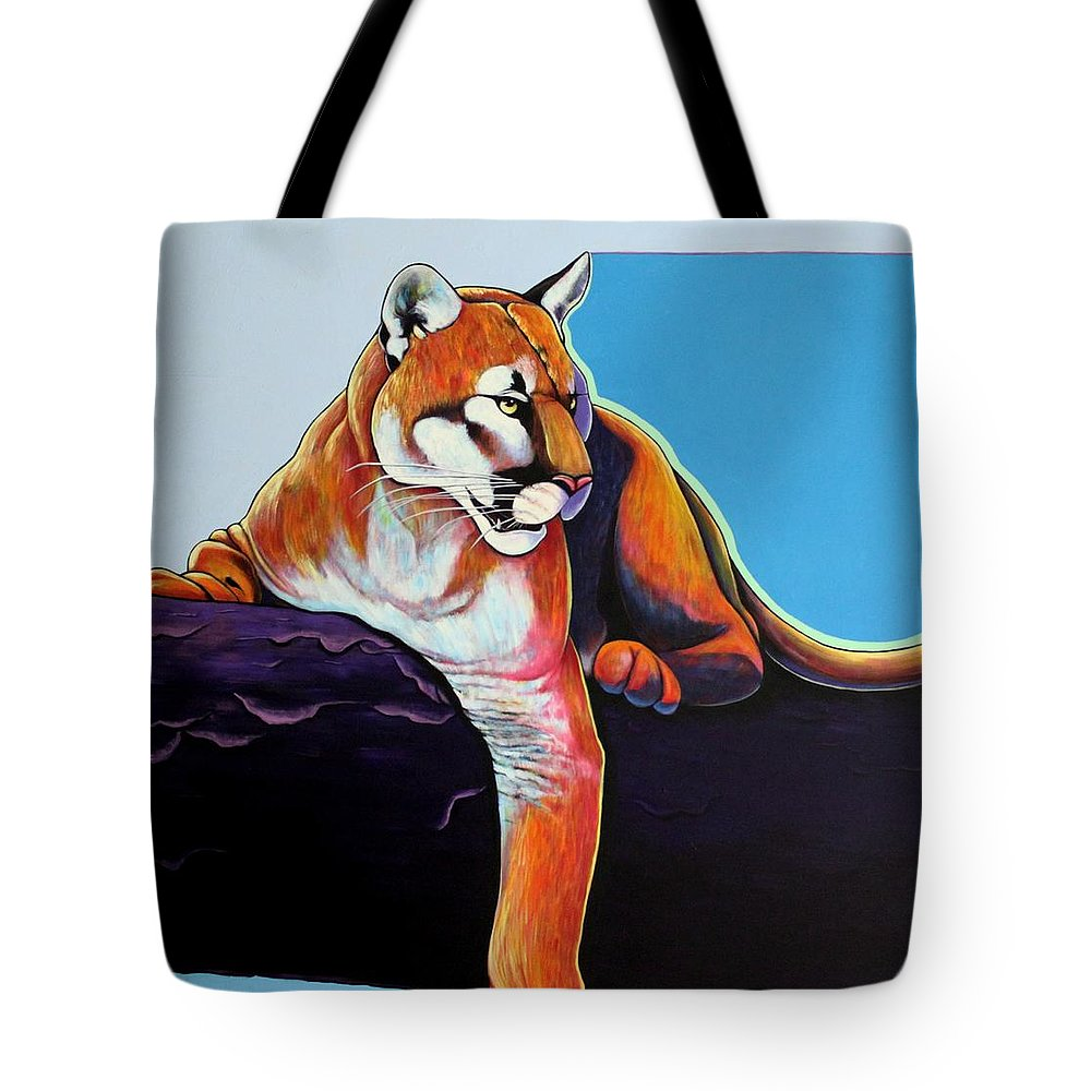 Wildlife Tote Bag featuring the painting The Toll Collector by Joe Triano