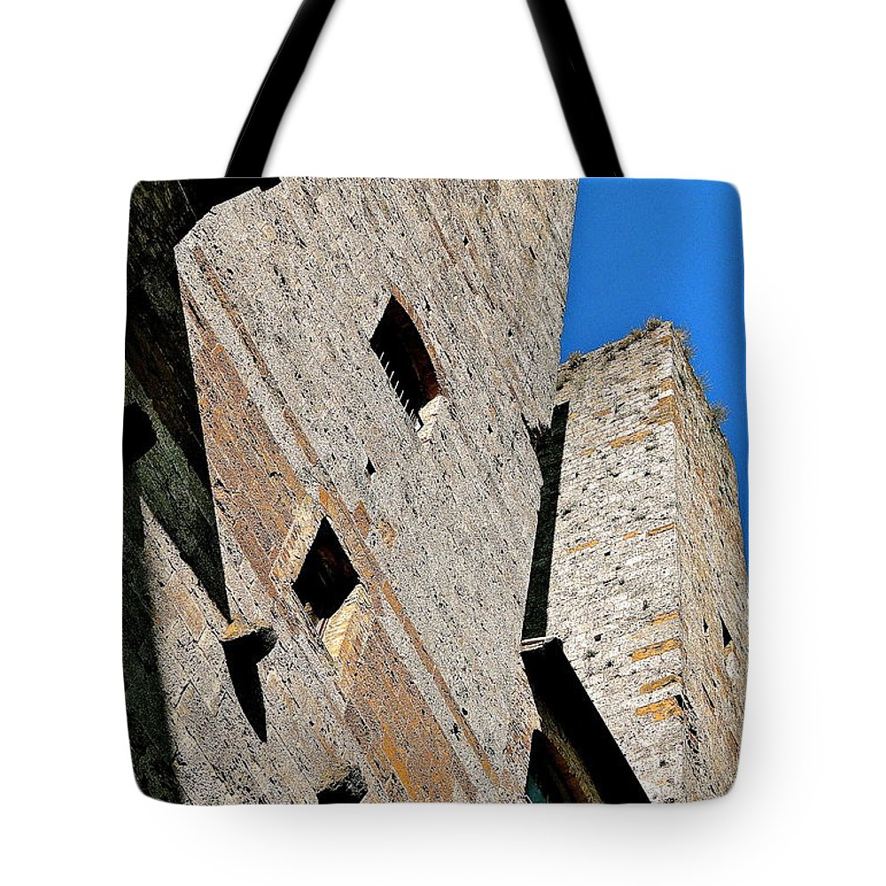 Tuscany Tote Bag featuring the photograph The Towers Of San Gimignano by Ira Shander