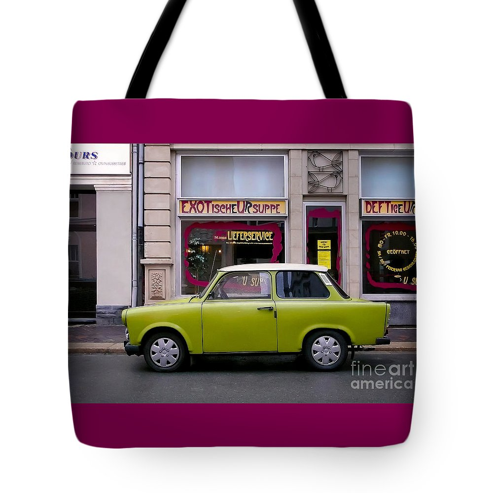 Trabant Tote Bag featuring the photograph The Trabant by Ari Salmela