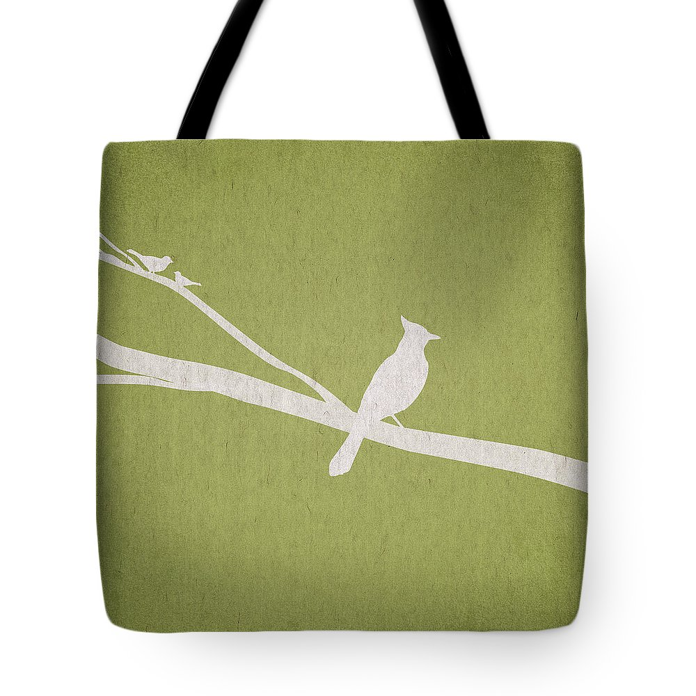 Contemporary Art Tote Bag featuring the digital art The Tree Branch by Aged Pixel