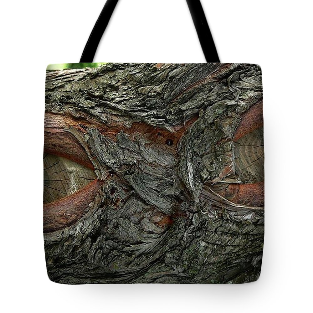 Eye Tote Bag featuring the photograph The Trees Have Eyes by Angela Wright