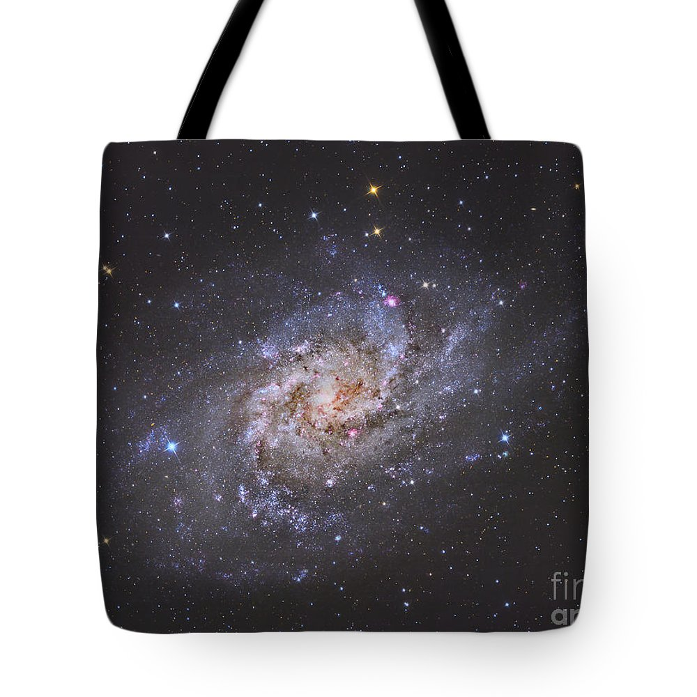 Space Tote Bag featuring the photograph The Triangulum Galaxy by Reinhold Wittich