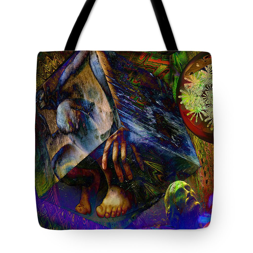 Fractal Tote Bag featuring the digital art Solar Engineer by Joseph Mosley