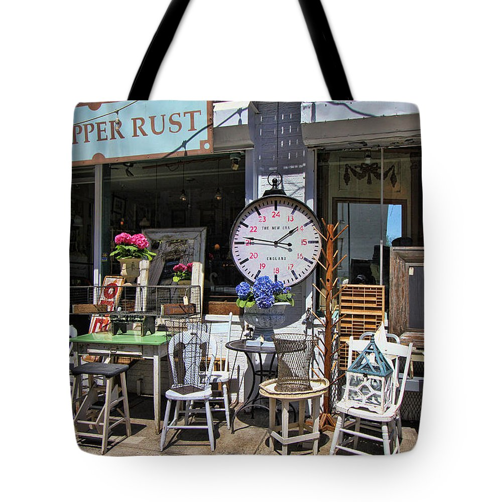 Antique Tote Bag featuring the photograph The Upper Rust by Allen Beatty
