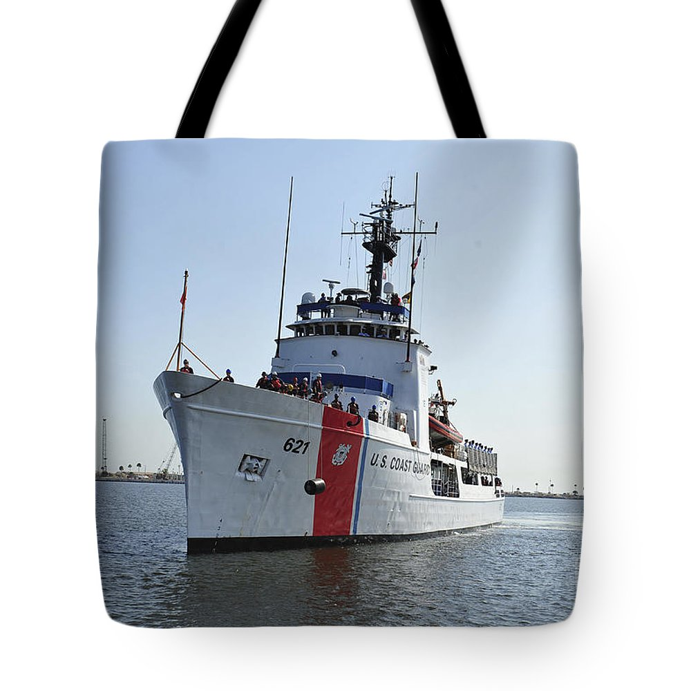 Mayport Tote Bag featuring the photograph The U.s. Coast Guard Cutter Valiant by Stocktrek Images